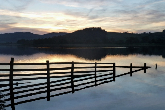 bala lake llyn tegid sunset